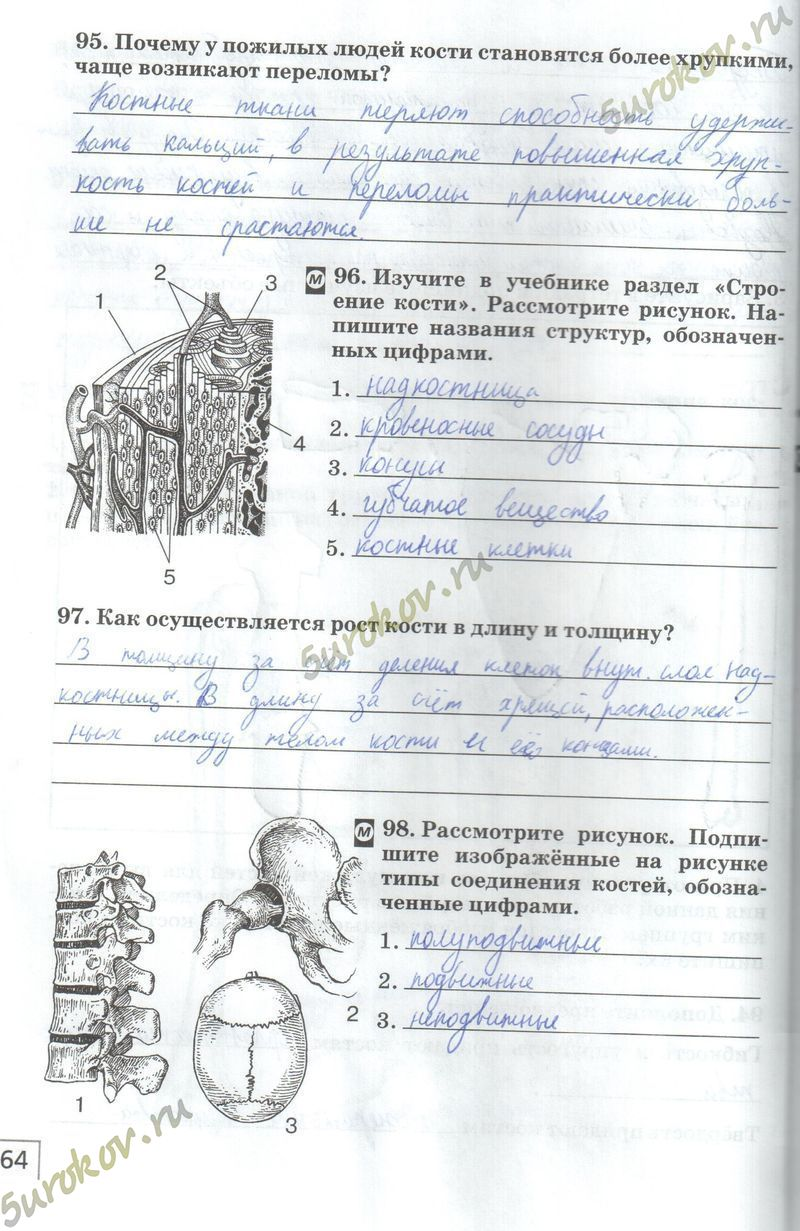 Класса гдз агафонова биологии 8 по сонин