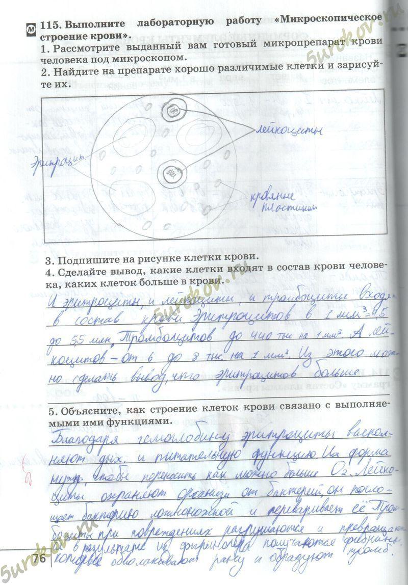 Гдз 8 Класс Тетрадь По Биологии Сонин Агафонова Тренировочные Задания