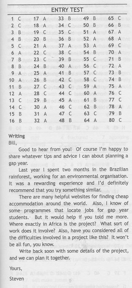 express publishing photocopiable entry test ответы